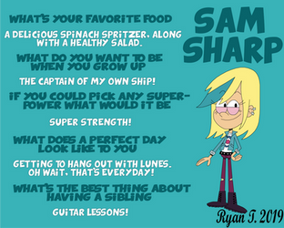 Sam Sharp Questions And Answers by TheLostSonicFan-2002