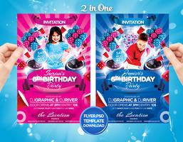 Kids Birthday Cake Flyer Invitation by Grandelelo