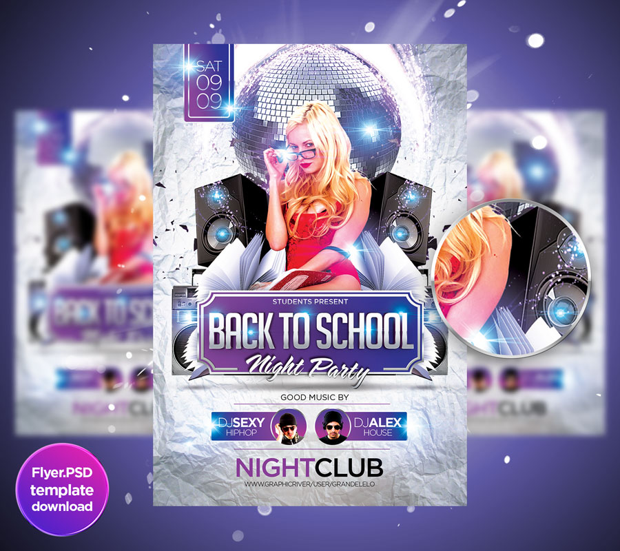 Back To School Party Template by Grandelelo