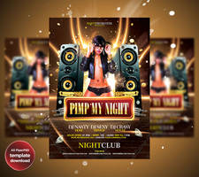 PIMP My Night Party Flyer Template by Grandelelo