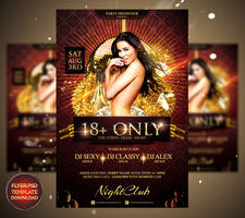 Adults Only Flyer Template by Grandelelo