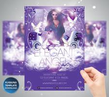 Elegant Angel Party Flyer Template by Grandelelo