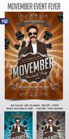 Movember Flyer Template by Grandelelo