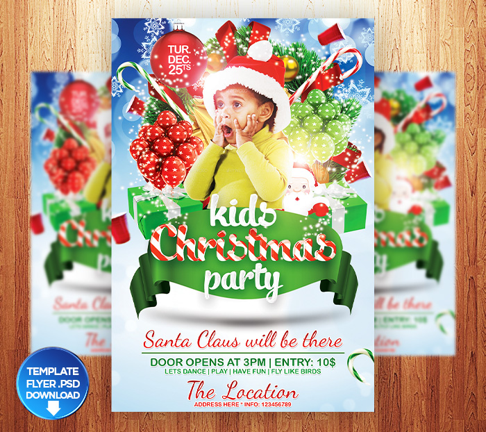Kids Christmas Party Flyer Templates by Grandelelo on DeviantArt