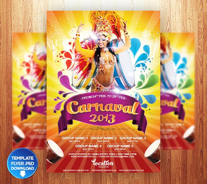 Carnival 2013  Flyer + Facebook Timeline Bonus by Grandelelo