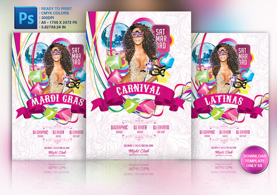 carnival flyer template by grandelelo on deviantart