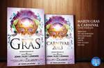 Mardi Gras / Carnival Flyer Template by Grandelelo