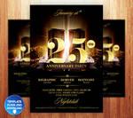 Birthday / Anniversary Party Flyer by Grandelelo