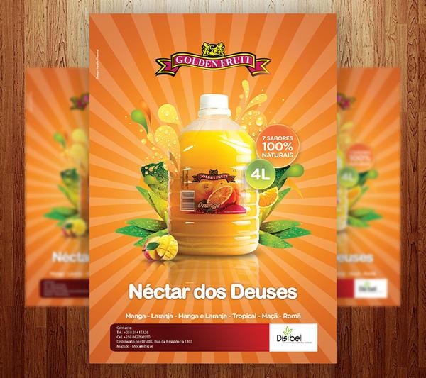 Golden Fruit Juice Ad Posters by Grandelelo on DeviantArt