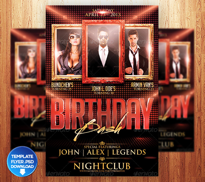 Birthday Flyer Template. Birthday Bash Party Flyer Template - Http
