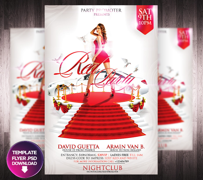 Red Party Flyer Template By Grandelelo On Deviantart