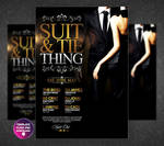 Suit and Tie - The Party Flyer Template