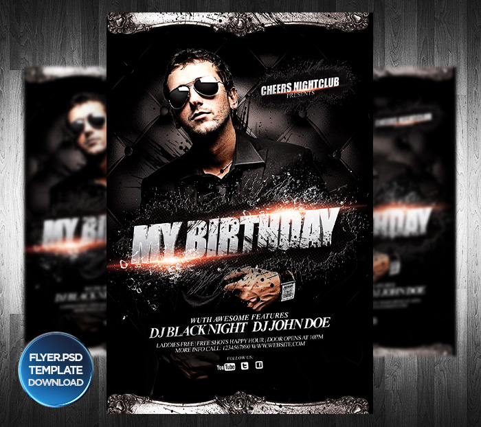 DJ or Birthday Party Flyer Template by Grandelelo on DeviantArt – Birthday Flyers Template