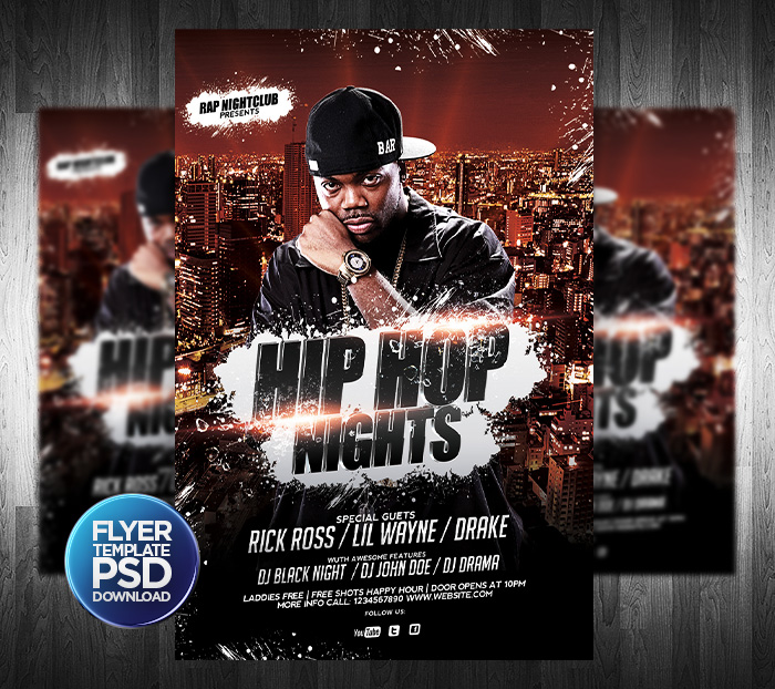 Hip Hop Flyer PSD Template By Grandelelo ...