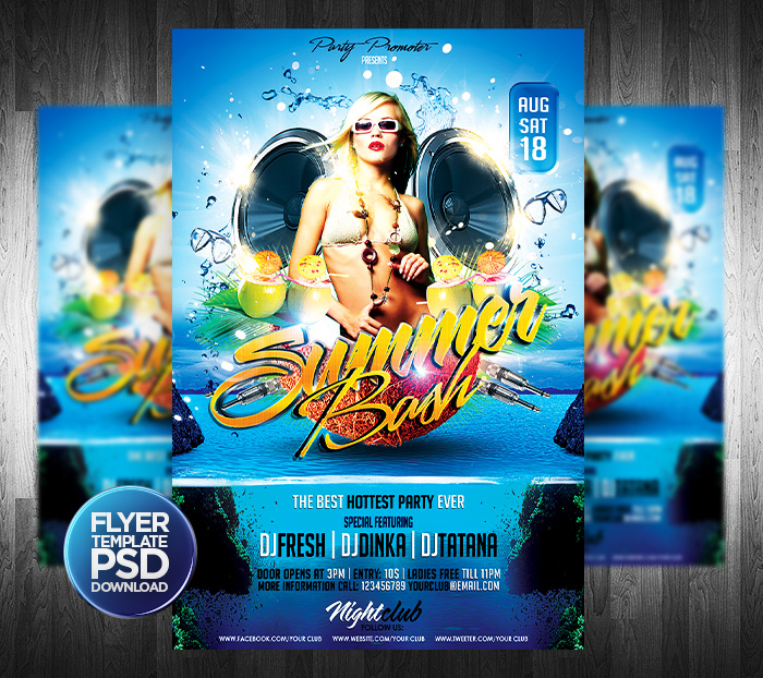 Beach Party Flyer Template By Grandelelo On Deviantart