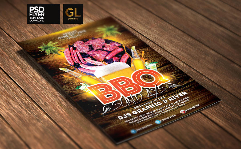 Bbq Party Flyer Template By Grandelelo On Deviantart