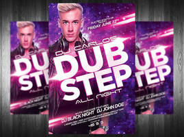 Dub Step Electro Dj Flyer by Grandelelo