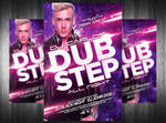 Dub Step Electro Dj Flyer