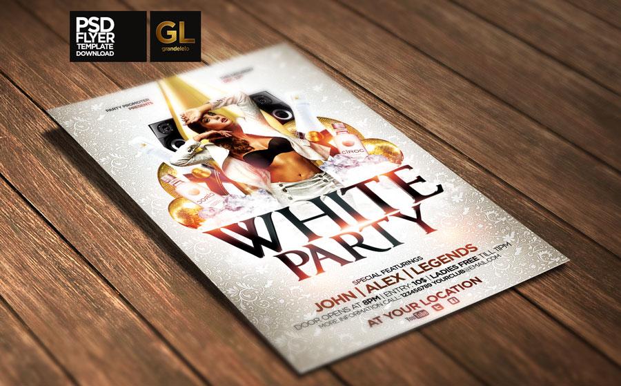 white party flyer template by grandelelo on deviantart