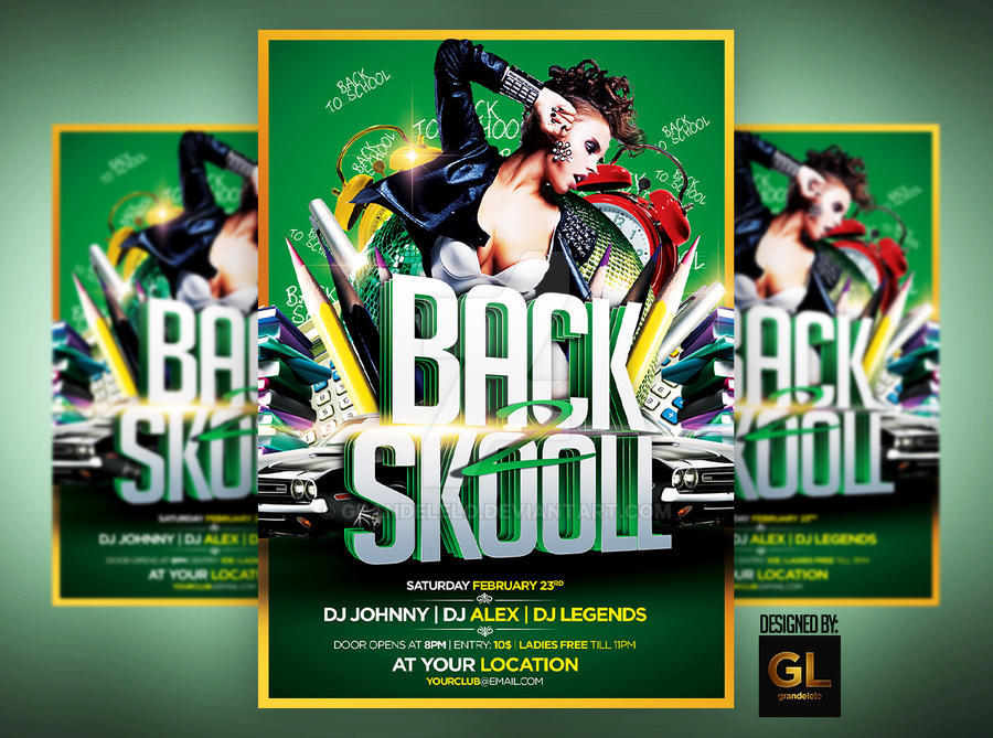 Back To School Flyer By Grandelelo On Deviantart
