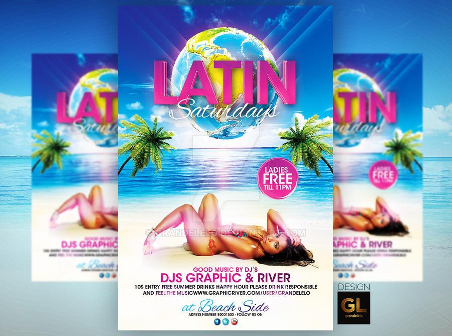 Latin Saturdays Flyer Template By Grandelelo On Deviantart