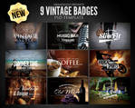 Vintage Badges PSD Template
