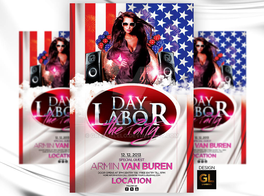 Perfect Labor Day Flyer Template By Grandelelo ...