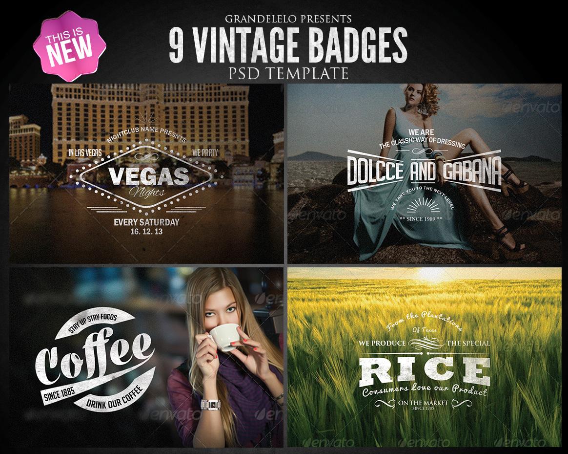 Vintage Badges PSD Template 2.0 by Grandelelo on DeviantArt