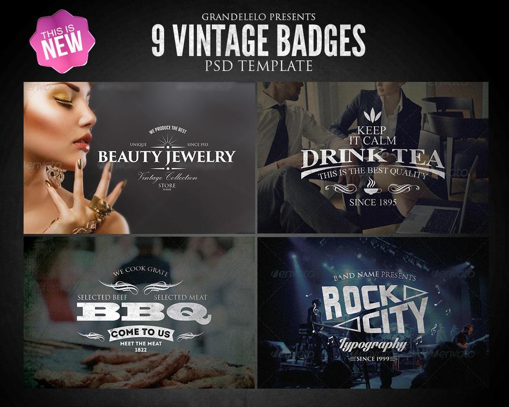 Vintage Badges PSD Template 2.1 by Grandelelo