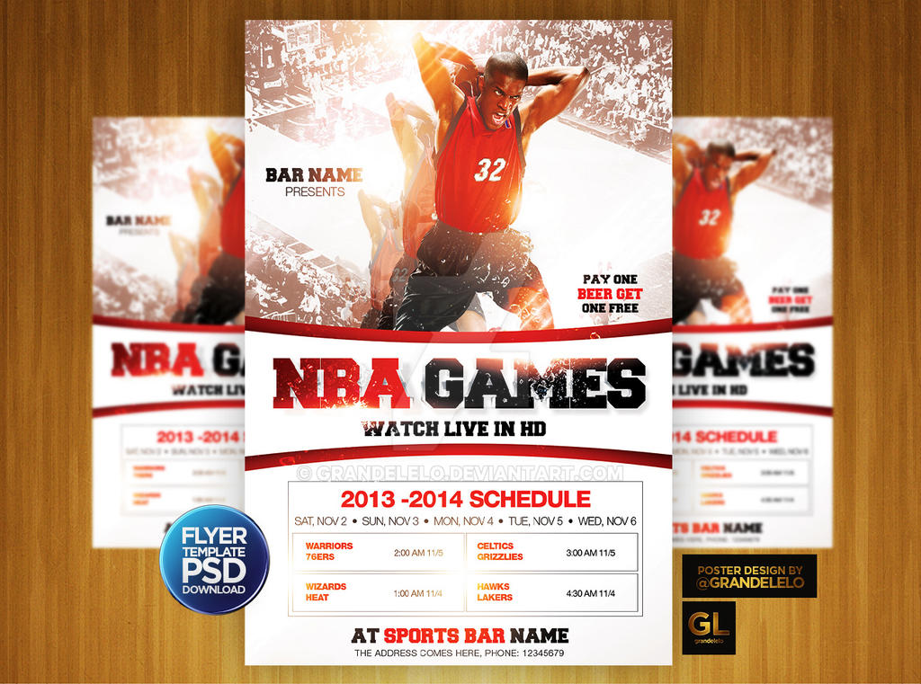basketball bash flyer template by grandelelo on deviantart. Black Bedroom Furniture Sets. Home Design Ideas