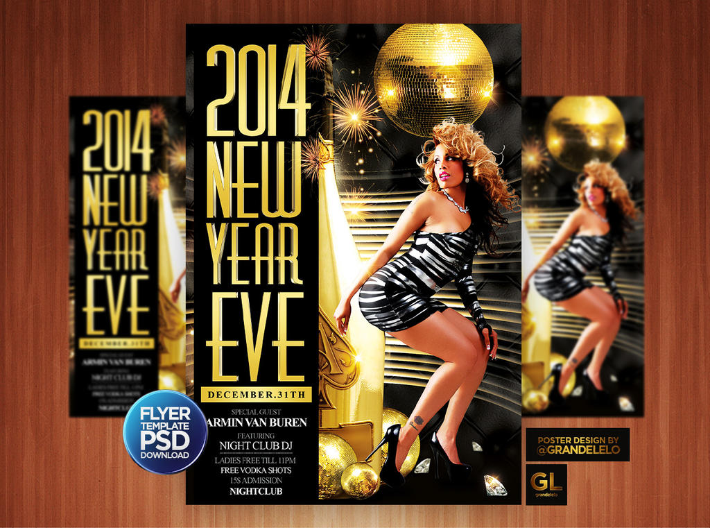 2014 New Year Eve Flyer Template by Grandelelo on DeviantArt – Free New Years Eve Flyer Template