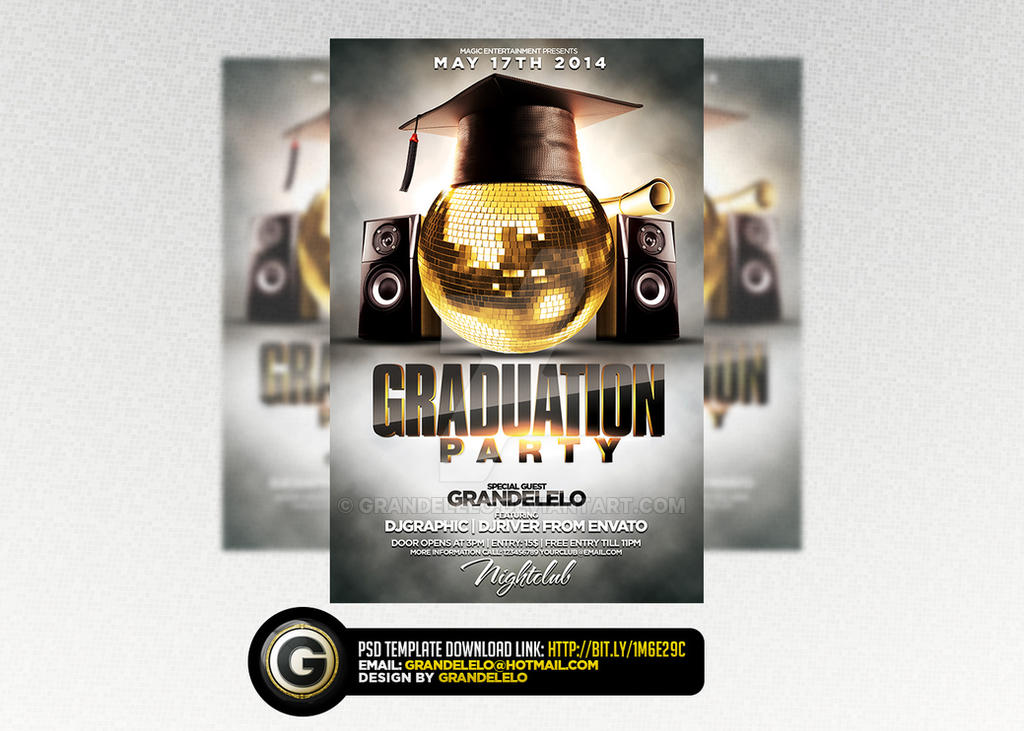Graduation Party Flyer Template By Grandelelo On Deviantart
