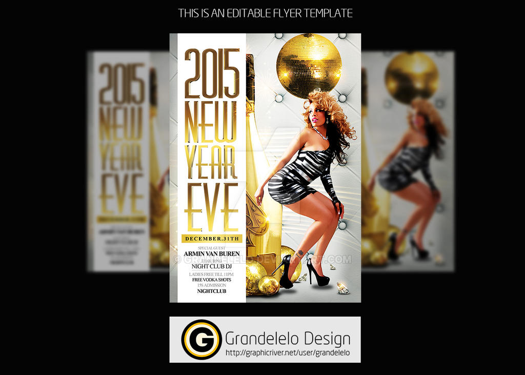 2015 New Year Eve Flyer Template By Grandelelo On Deviantart