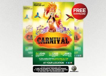 FREE Carnival Flyer Template by Grandelelo
