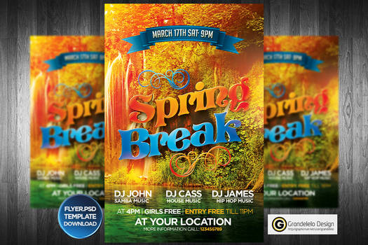 Spring Break Flyer Template 2015