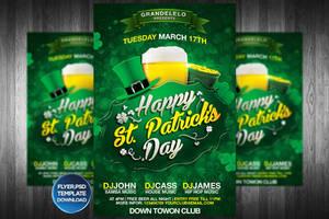 St Patricks Day Flyer Template by Grandelelo