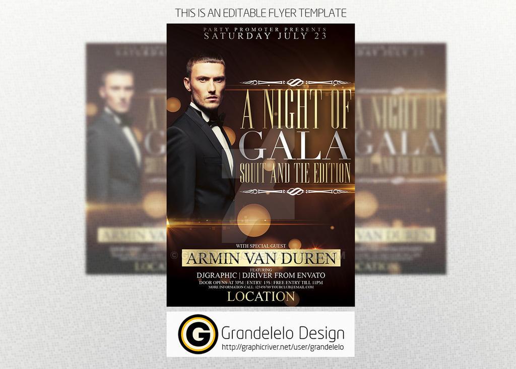 a night of gala flyer template by grandelelo on deviantart