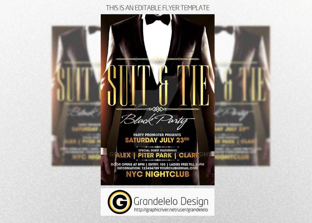 Suit n Tie Party Template by Grandelelo