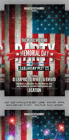 Memorial Day n 4th July 2015 Flyer Template PSD by Grandelelo