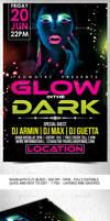 Glow in the Dark Flyer Template .PSD by Grandelelo