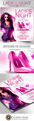 Ladies Night Flyer Template 2015 by Grandelelo