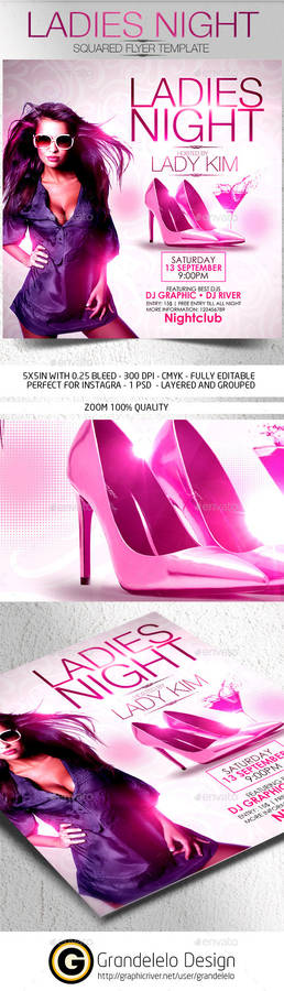 Ladies Night Flyer Template 2015