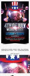 4th July Weekend Flyer Template by Grandelelo
