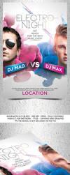 Dj Battle Party Flyer Template by Grandelelo