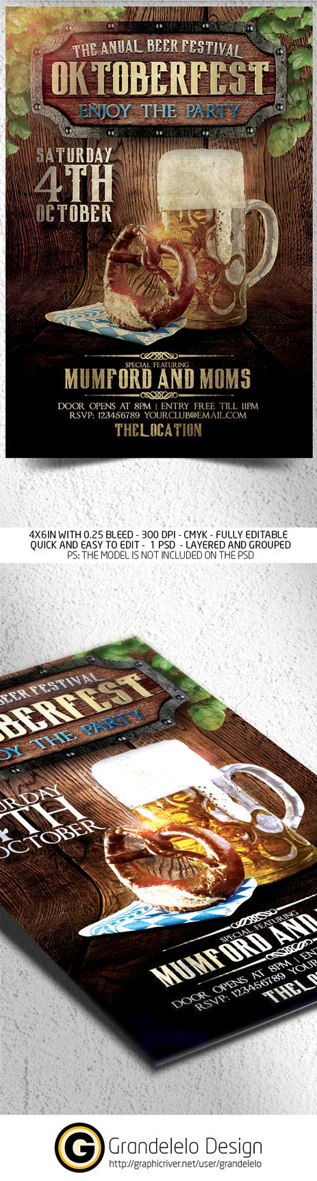 The Oktoberfest Flyer Template by Grandelelo