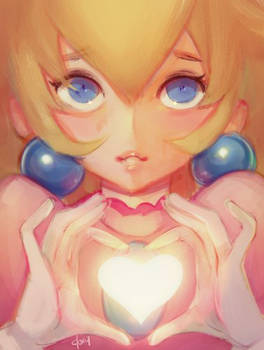 Heart Peach