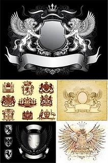 FREE Heraldry Vector Set by doctorromantico