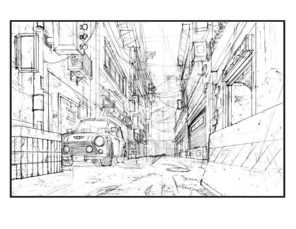 how to draw city life