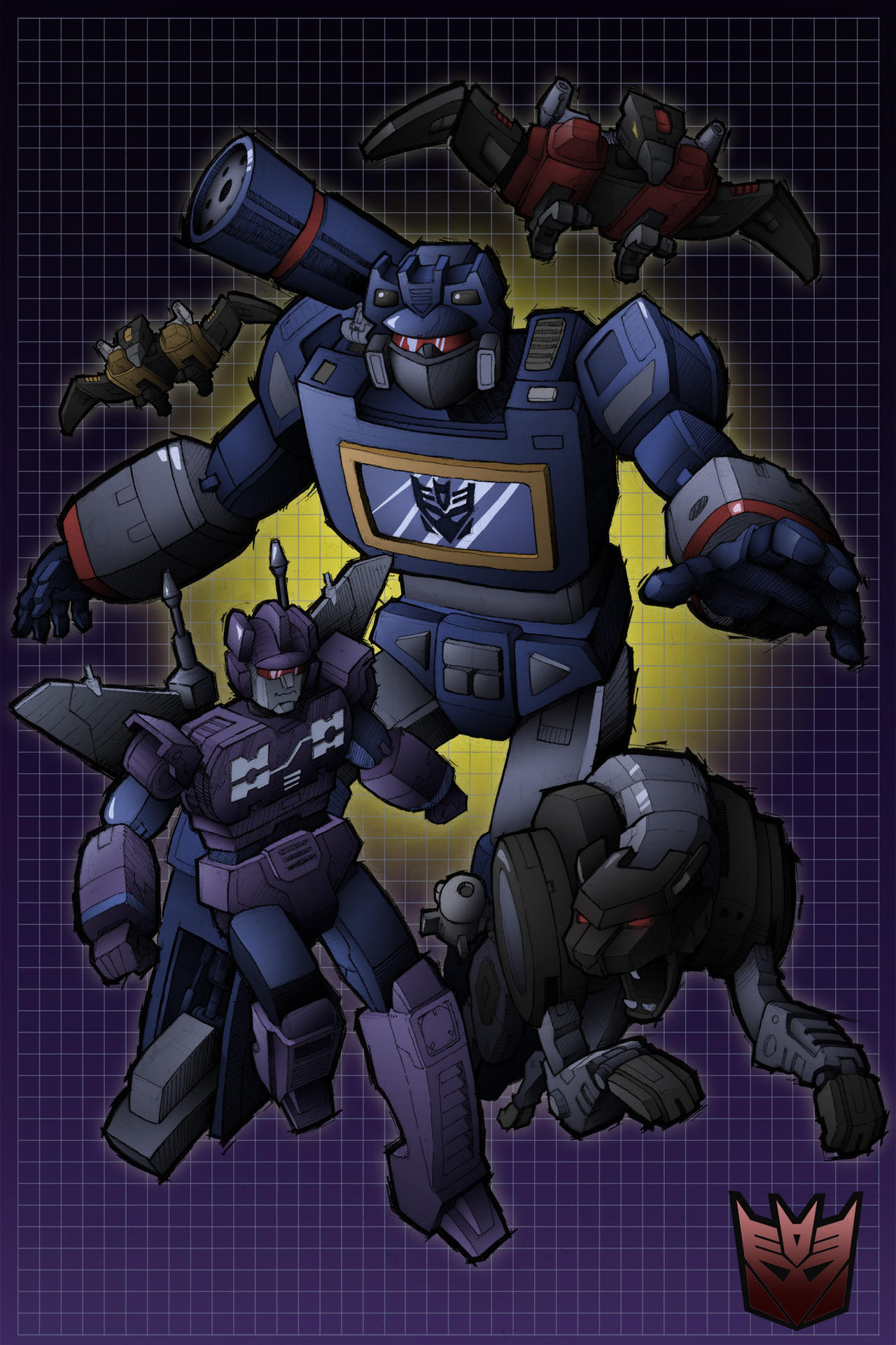 Team Soundwave Colour by ArtByGiuseppe