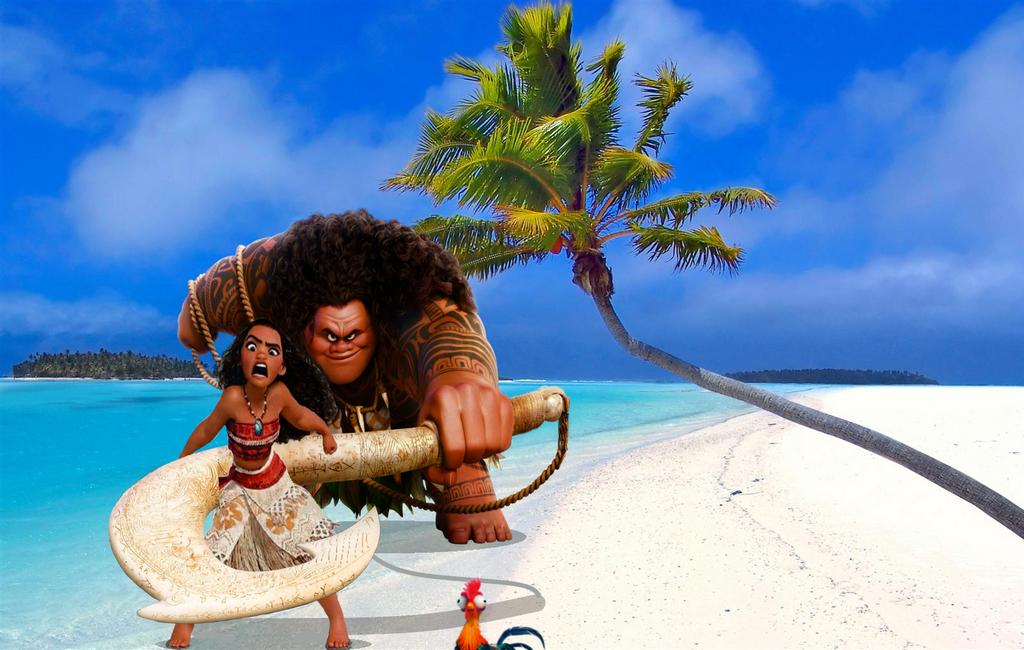 Moana Hei Hei and Maui by Dwarkin